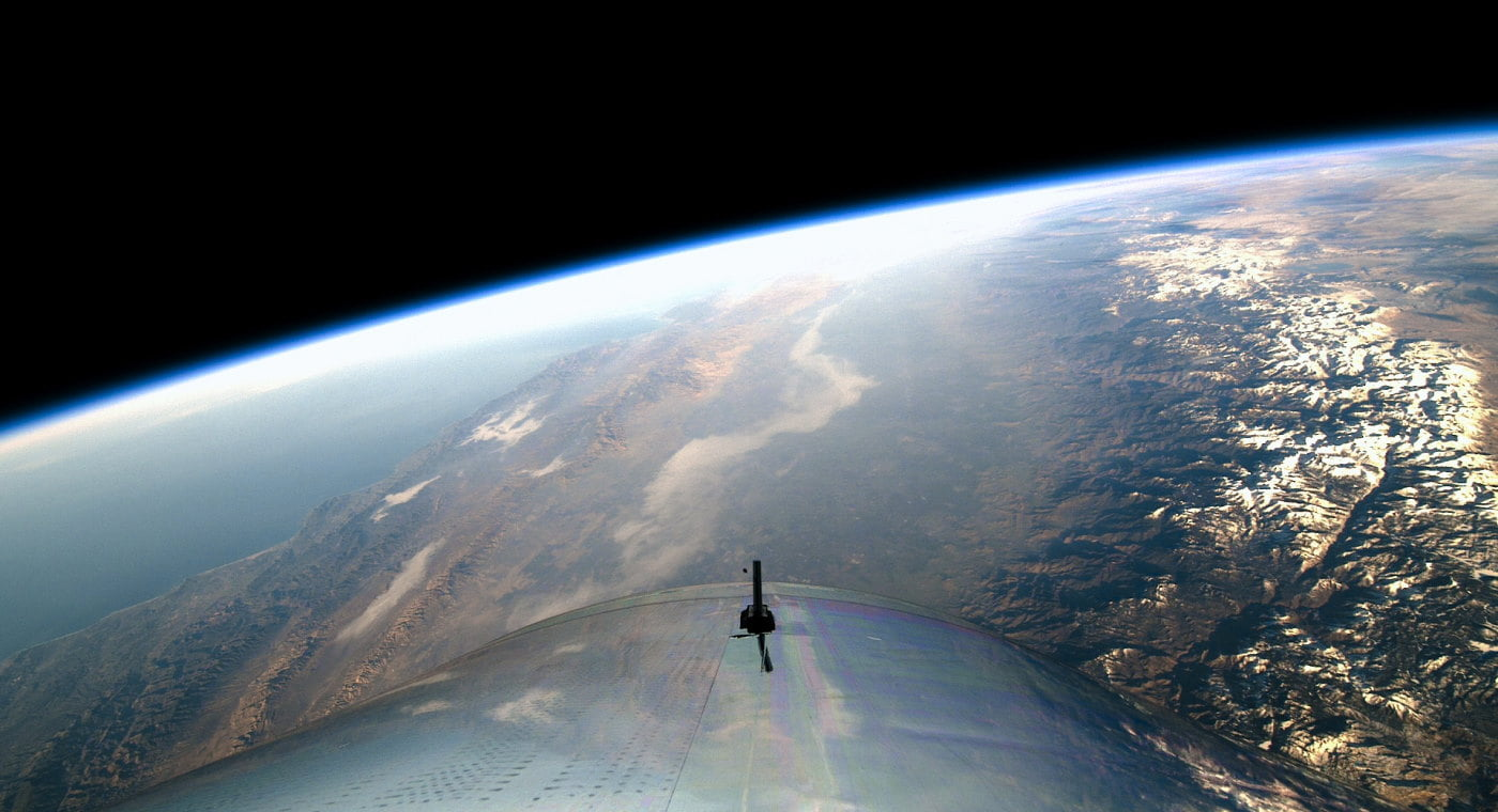 View of Earth from Virgin Galactic ship