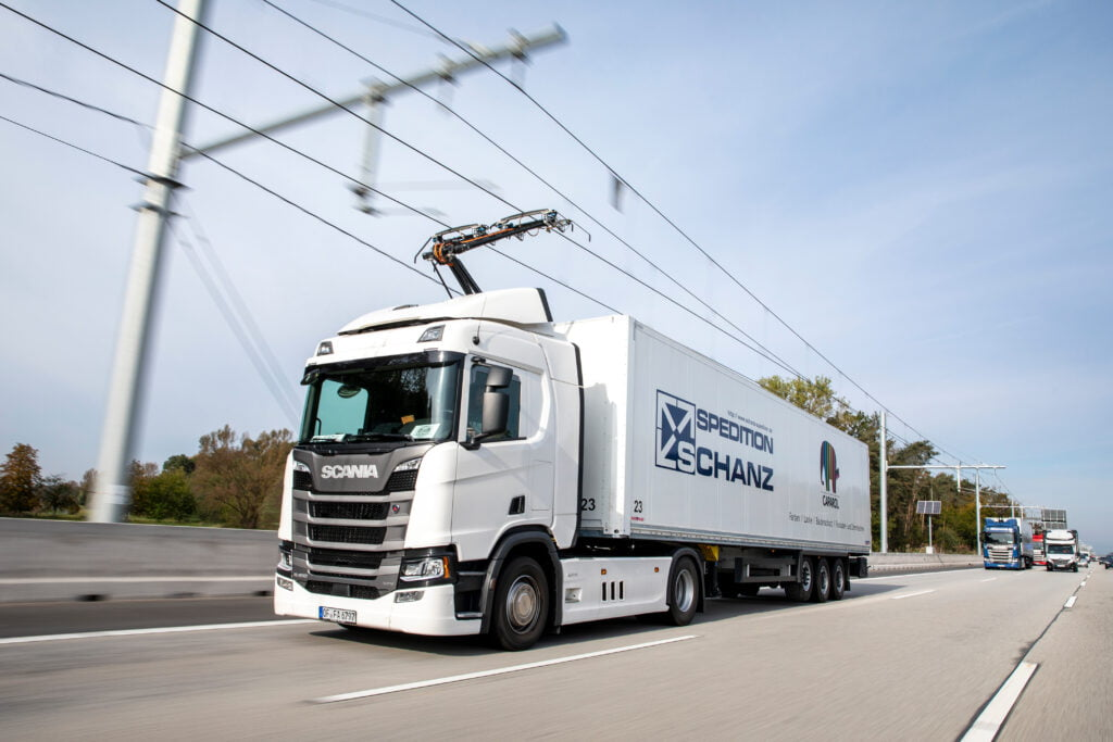 e-highway trial in Germany