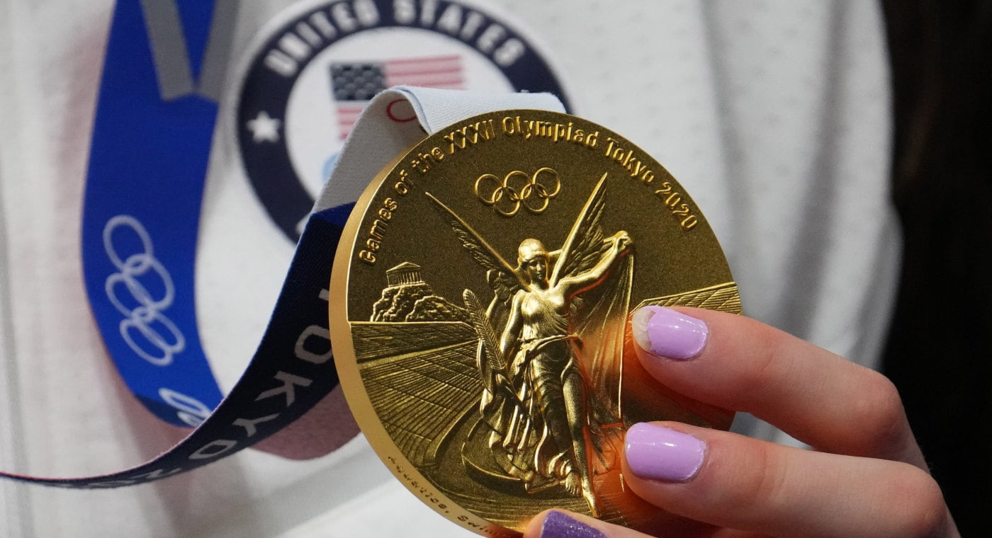 Gold medal from Tokyo 2020
